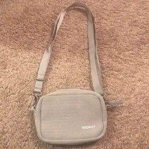 Small gray travel purse